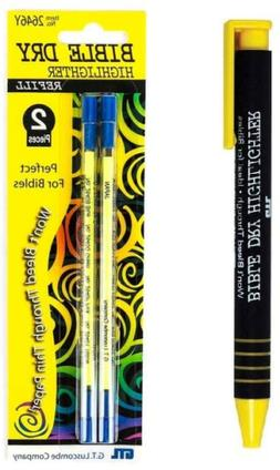 Yellow Highlighters Dry Bible Highlighter Pen With 2 Pack Ye