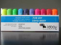 Yoobi Mini Highlighters - 10 Pack