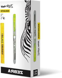 Zebra Zazzle Liquid Highlighter Chisel Tip Yellow, 12-pack