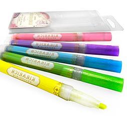 Zebra - Kirarich Glitter Ink Highlighters - Wallet of 5 –