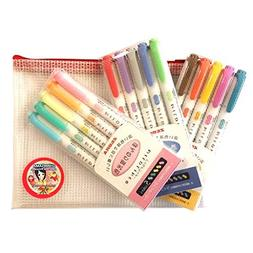 Zebra Mildliner Double-sided Highlighter Pens, 15 Color Full