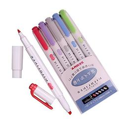 Zebra Mildliner Soft Color Double-Sided Highlighter Pens Dee