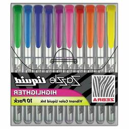 Zebra - Zazzle Liquid Ink Highlighter, Chisel Tip, Asst Colo