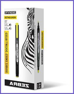 Zebra Zebrite Double Ended Highlighter Chisel & Fine Point Y
